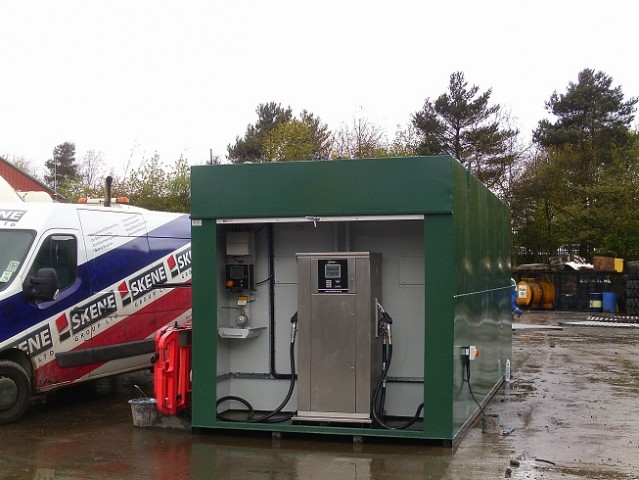 Two Compartment Twin Pump for Skene Group from Fuel Tek