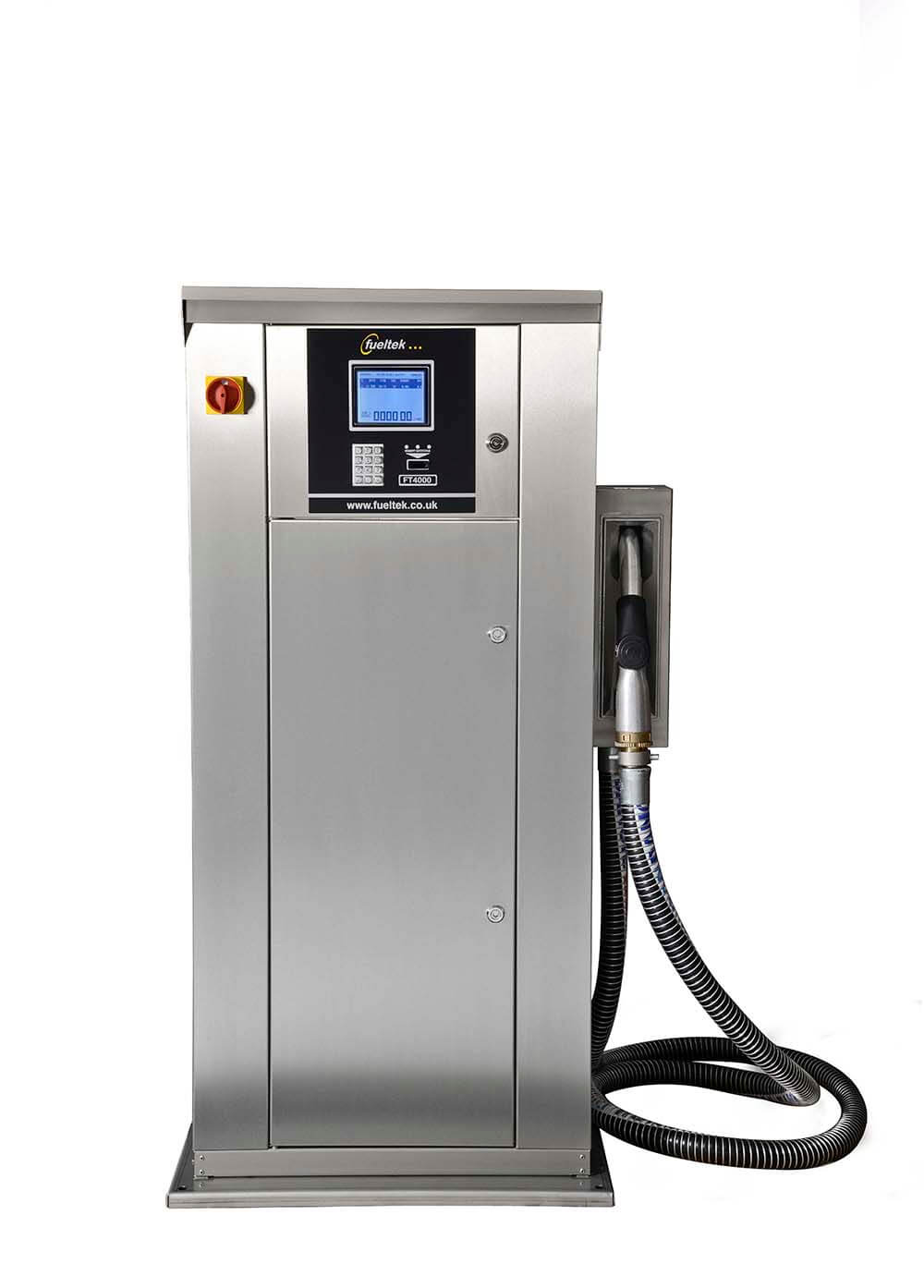 The FuelTek FT4000 high speed fuel pump on a white background
