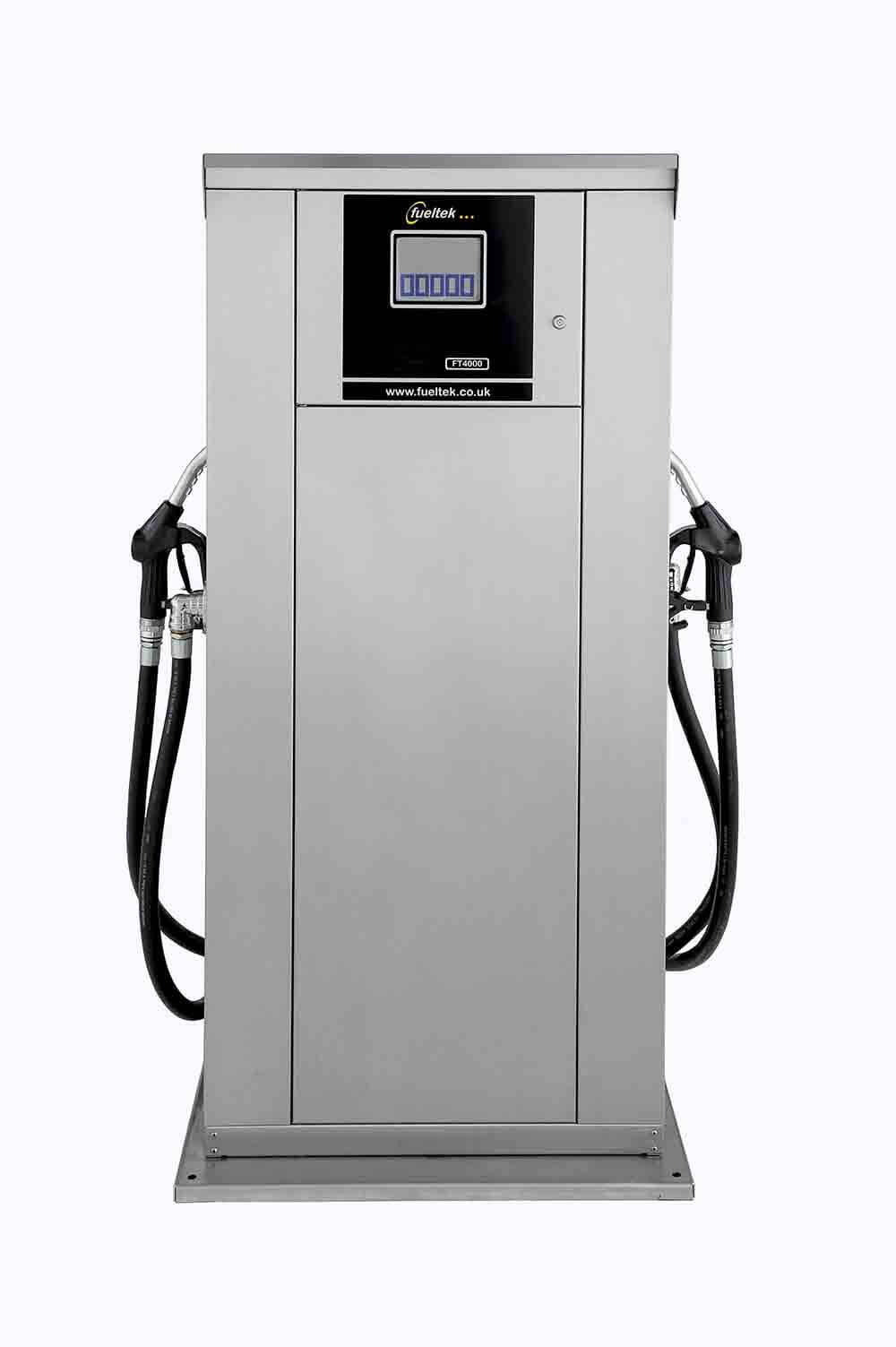 Fueltek FT4000AP with two fuel dispensing nozzles on a white background
