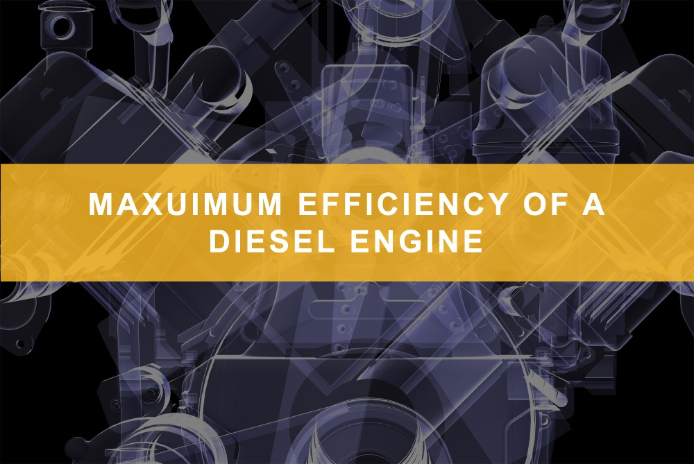 Maximum efficiency of a diesel engine