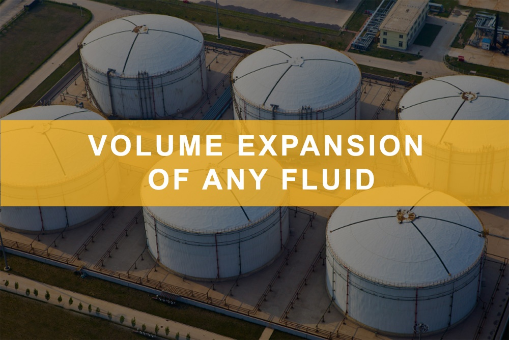 Volume expansion of any fluid