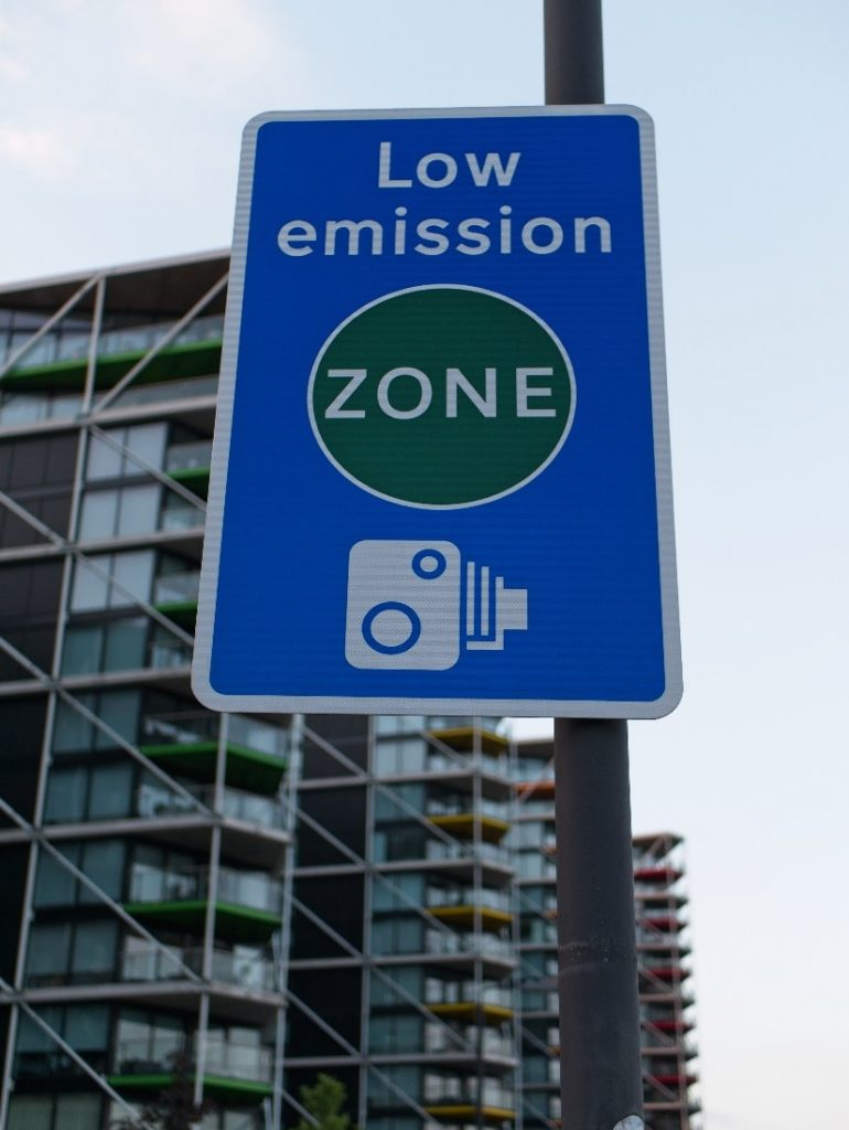 Low emission sign