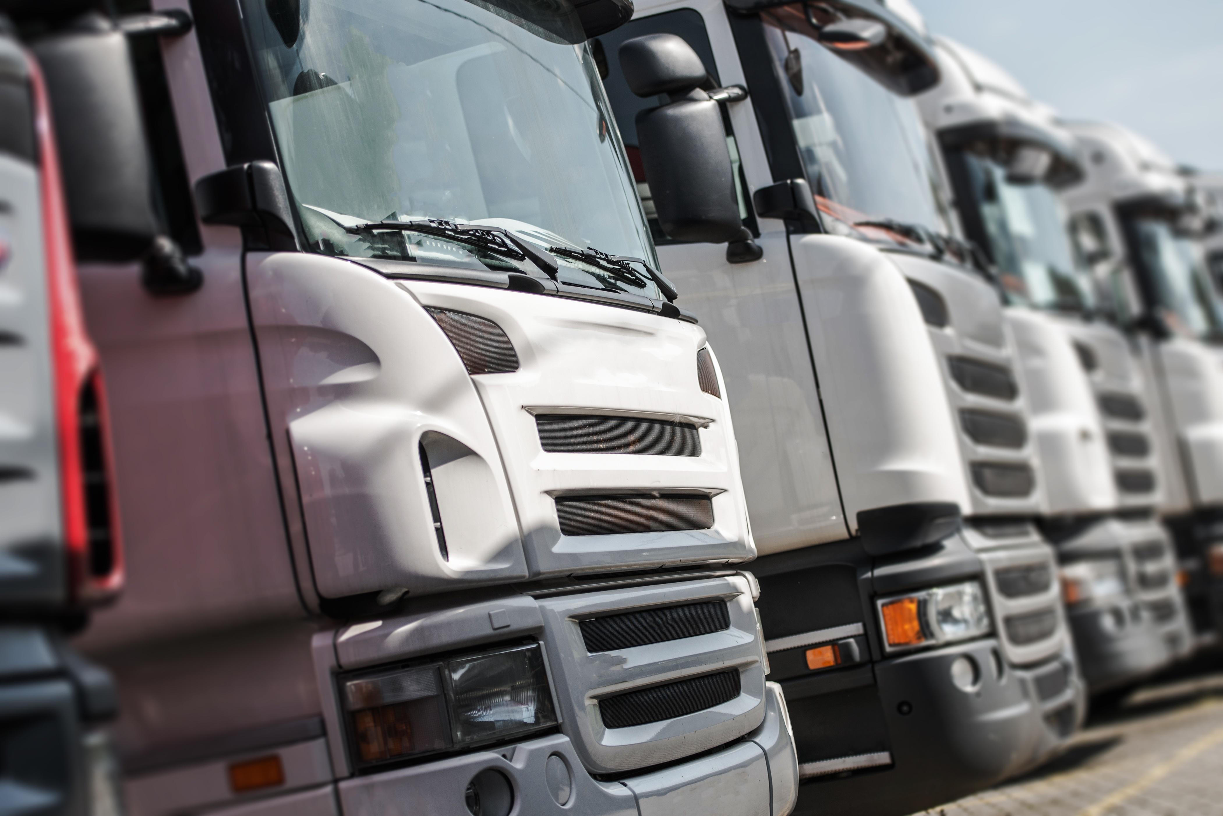 fleet of lorries