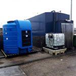 Fueltek AdBlue storage tank at a filling station