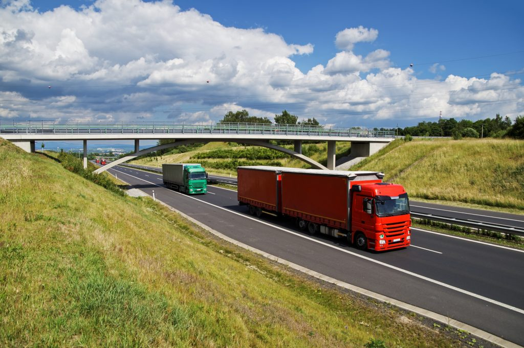 Lorries on motorway