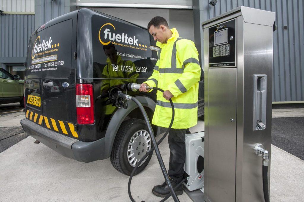 Fueltek FT4000 system filling
