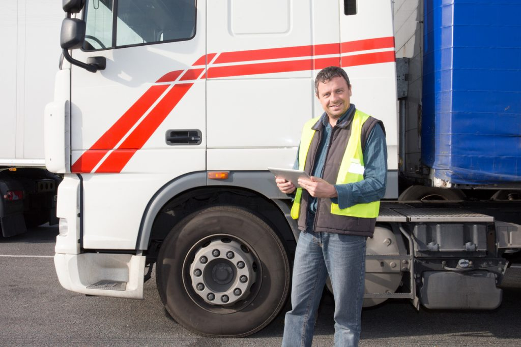 transportation man truck driver portrait